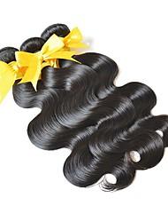 Недорогие -3 Связки Евро-Азиатские волосы Естественные кудри Не подвергавшиеся окрашиванию Подарки / Распродажа брендовых товаров Черный Естественный цвет Ткет человеческих волос