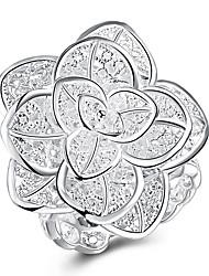 preiswerte -Damen Mehrschichtig Bandring - Kupfer Blume Mehrlagig 8 Silber Für Party / Arbeit