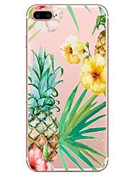 baratos -Capinha Para Apple iPhone X iPhone 8 Estampada Capa traseira Flor Macia TPU para iPhone X iPhone 8 Plus iPhone 8 iPhone 7 Plus iPhone 7
