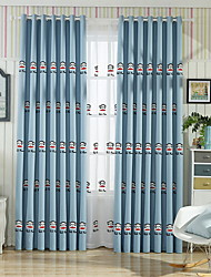 cheap -Curtains Drapes Living Room Cartoon Cotton / Polyester Jacquard