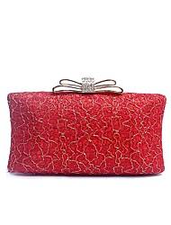 preiswerte -Damen Taschen PU-Leder / Polyester Abendtasche Kristall Verzierung / Geprägt für Hochzeit / Veranstaltung / Fest Schwarz / Rote / Grau