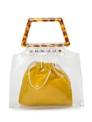 baratos -Mulheres Bolsas PVC / Vinil Tote Conjunto de bolsa de 4 pcs Tachas Azul / Preto / Amarelo