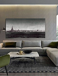 baratos -Estampado Laminado Impressão De Canvas - Abstrato Paisagem Modern