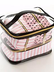 cheap -Women's Bags Plastic Tote 3 Pcs Purse Set Zipper for Casual Black / Blushing Pink