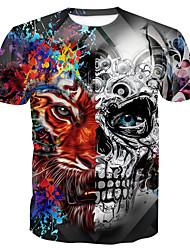 abordables -Tee-shirt Homme, Crânes Imprimé Basique