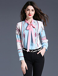 cheap -SHIHUATANG Women's Street chic Shirt - Geometric, Bow