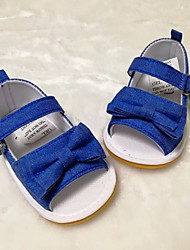 billige -Pige Drenge Sko Stof Sommer Første gåsko Komfort Sandaler for Afslappet Hvid Blå Lys pink