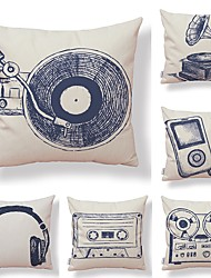 cheap -6 pcs Textile Cotton / Linen Pillow case Pillow Cover, Special Design Printing Novelty Artistic Style Geometric