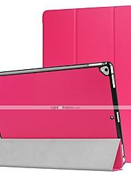Недорогие -Кейс для Назначение Apple iPad Pro 12,9 '' Флип Ультратонкий Оригами Авто Режим сна / Пробуждение Чехол Сплошной цвет Твердый Кожа PU для