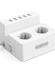 baratos -NTONPOWER Smart Plug ODC-2A5U-EU-5A-WH para Utensílios de Cozinha Inovadores / Sala de estar / Quarto Protecção de Desligar / Criativo / Segurança 100-240 V