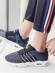 cheap -Men's Tulle Winter Comfort Athletic Shoes Walking Shoes White / Black / Blue