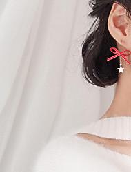 Недорогие -Серьги-слезки - Звезда, Бант корейский, Милая, Мода Белый / Красный Назначение Вечеринка / ужин / Подарок