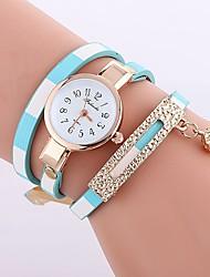 baratos -Mulheres Quartzo Relógio de Moda Chinês Relógio Casual PU Banda Casual Fashion Preta Azul Vermelho Marrom Rosa