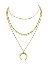 Недорогие -Жен. Слоистые ожерелья - MOON Золотой 45 cm Ожерелье 2pcs Назначение Вечеринка / ужин, Школа
