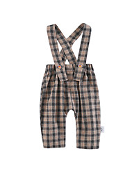 cheap -Baby Unisex Daily Geometric Overall & Jumpsuit, Cotton Spring Summer Cute Active Yellow Khaki 90 100 80 70 66