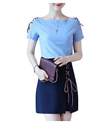preiswerte -Damen Bluse - Solide Rock