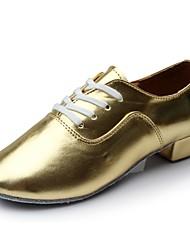 preiswerte -Herrn Schuhe für den lateinamerikanischen Tanz PU Sneaker Flacher Absatz Maßfertigung Tanzschuhe Gold / Innen
