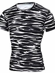preiswerte -Herrn T-Shirt für Wanderer Außen Rasche Trocknung Dehnbar Atmungsaktivität Leicht T-shirt N / A Straßenradfahren Camping & Wandern