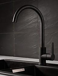 abordables -Robinet lavabo - Rotatif Peintures Noir Vasque Mitigeur un trou