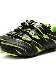 baratos -Tiebao® Homens Tênis para Ciclismo Nailom e Fibra de Carbono Ciclismo / Moto Anti-Escorregar, Vestível, Respirabilidade Pele PVC Verde /