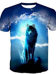abordables -Tee-shirt Homme,Animal Imprimé Basique