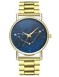 baratos -Homens Chinês Cronógrafo / Criativo / Relógio Casual Aço Inoxidável Banda Vintage Dourada / Fase da lua / Mostrador Grande / SSUO LR626