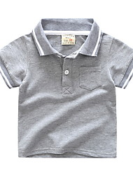preiswerte -Jungen Gestreift Kurzarm T-Shirt