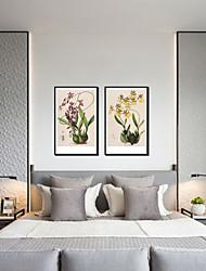 baratos -Estampado Laminado Impressão De Canvas - Paisagem Botânico Modern