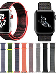 abordables -Ver Banda para Apple Watch Series 3 / 2 / 1 Apple Hebilla Moderna Nailon Correa de Muñeca