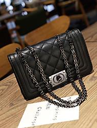 preiswerte -Damen Taschen PU Umhängetasche Reißverschluss Schwarz