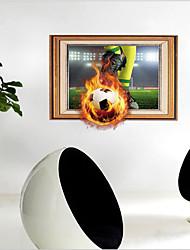 Недорогие -Декоративные наклейки на стены - 3D наклейки Футбол Гостиная Спальня Ванная комната Кухня Столовая Кабинет / Офис