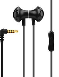 baratos -N82 No ouvido Audio IN Fones Dinâmico Aluminum Alloy Esporte e Fitness Fone de ouvido Atração de ímã / Com Microfone Fone de ouvido