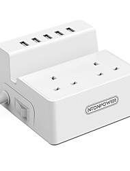 cheap -NTONPOWER Smart Plug ODC-2A5U-UK-5A-WH for Kitchen / Living Room / Bedroom Power-Off Protection / Creative / Safety 100-240 V