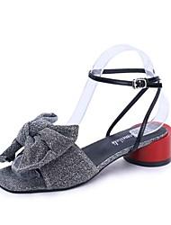 preiswerte -Damen Schuhe Gummi Sommer Komfort Sandalen Flacher Absatz für Draussen Gold Schwarz Silber