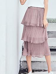 preiswerte -Damen Grundlegend A-Linie Röcke - Solide