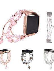 Недорогие -Ремешок для часов для Fitbit Blaze Fitbit Дизайн украшения Керамика Повязка на запястье