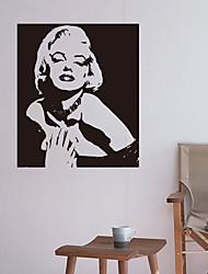 Недорогие -Наклейка на стену Декоративные наклейки на стены - Простые наклейки Известные картины Положение регулируется Съемная