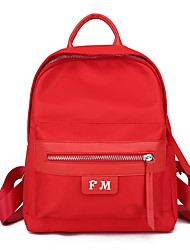 povoljno -Žene Torbe PU koža ruksak Patent-zatvarač za Kauzalni Vanjski Sva doba Crn Red Blushing Pink