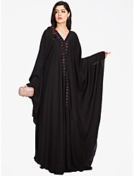 cheap -BENEVOGA Women's Sophisticated Street chic Shift Swing Abaya Dress - Solid Colored, Lace up