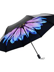 Недорогие -пластик Жен. Солнечный и дождливой / Ветроустойчивый / новый Складные зонты