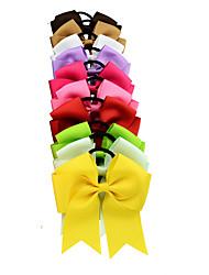 Недорогие -Резинка и Связи Аксессуары для волос Шёлковая ткань рипсового переплетения Satin парики Аксессуары Девочки 10pcs штук 1-4 дюйм см Для
