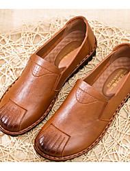 povoljno -Žene Cipele Sintetika, mikrofibra, PU Proljeće Jesen Udobne cipele Natikače i mokasinke Ravna potpetica za Kauzalni Crn Braon
