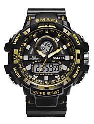 Недорогие -мужские военные часы японский календарь / дата / день / хронограф / водостойкий / водонепроницаемый pu band роскошный черный / зеленый