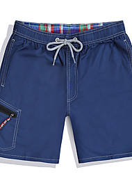 cheap -Men's One-piece - Solid Colored Lace up Swim Trunk