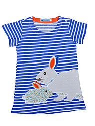 abordables -Bébé Fille Bleu & blanc Rayé Manches Courtes Robe