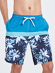 cheap -Men's Swim Shorts Quick Dry, Wearable, Breathable Polyester / Spandex Swimwear Beach Wear Board Shorts Reactive Print Surfing / Beach / Water Sports / Stretchy