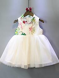 abordables -Enfants Fille Fleur Sans Manches Robe