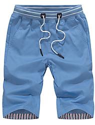 cheap -Men's Plus Size Cotton / Polyester Slim Shorts Pants - Solid Colored