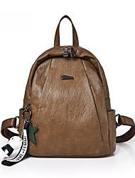 cheap -Women's Bags PU(Polyurethane) Backpack Zipper Brown / Black