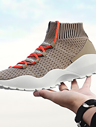 baratos -Homens sapatos Micofibra Sintética PU / Couro Ecológico / Tule Outono Conforto Tênis Corrida Arco-íris / Verde / Khaki